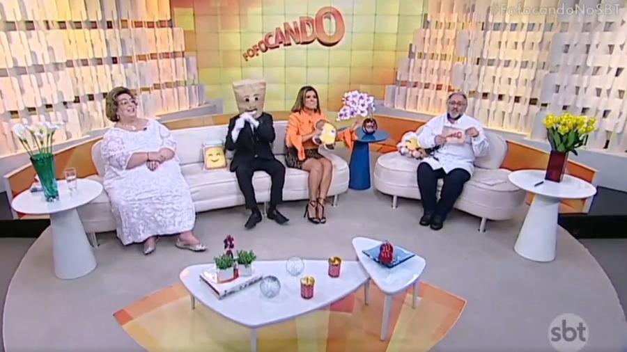 """Os apresentadores do programa """"Fofocando"""", no SBT - Reprodução/SBT"""