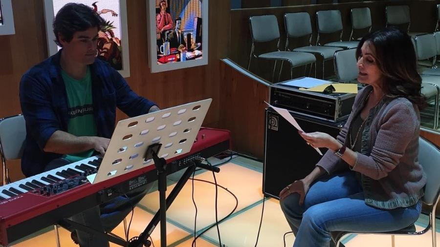Fatima Bernardes faz aula de canto com Jules Vandystadt - Reprodução/Instagram/fatimabernardes