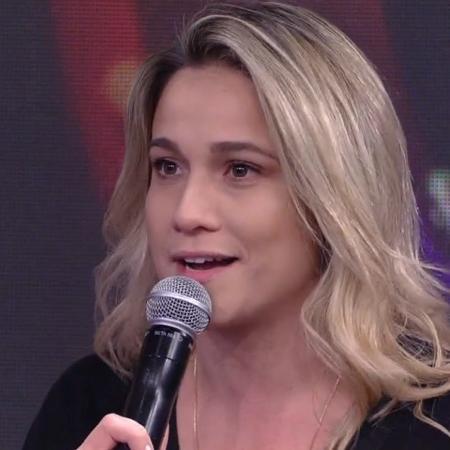 """Fernanda Gentil no """"Domingão do Faustão"""" - Reprodução/Globo"""