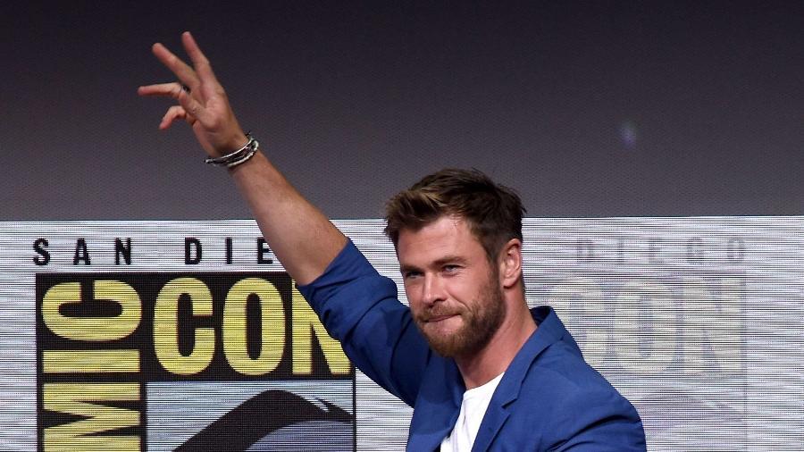 "Chris Hemsworth no painel de ""Thor; Ragnarok"" - Kevin Winter/Getty Images/AFP"