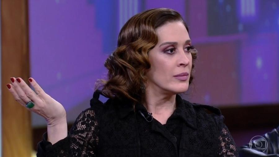"""Claudia Raia no """"Conversa com Bial"""" - Reprodução/TV Globo"""