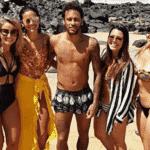 Neymar e Bruna Marquezine são tietados em Fernando de Noronha - Reprodução/Instagram