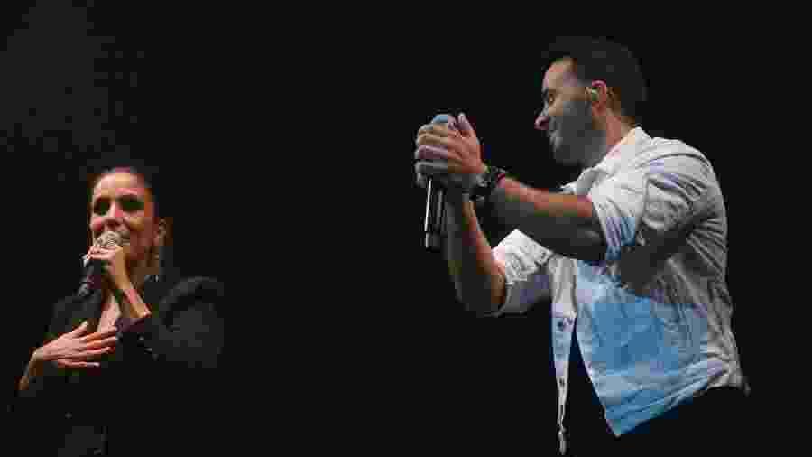 Ivete Sangalo canta com Luis Fonsi no Espaço das Américas, em São Paulo - Francisco Cepeda/AgNews