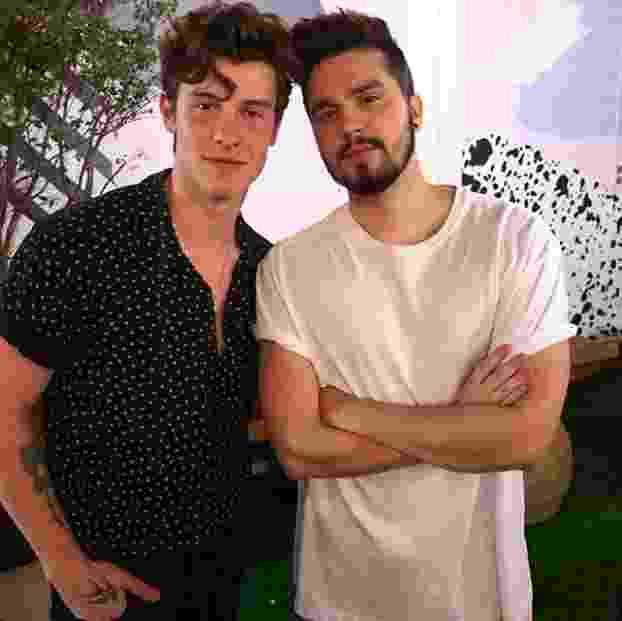Luan Santana se encontra com Shawn Mendes no backstage do VillaMix Goiânia - Reprodução/Instagram/Luan Santana