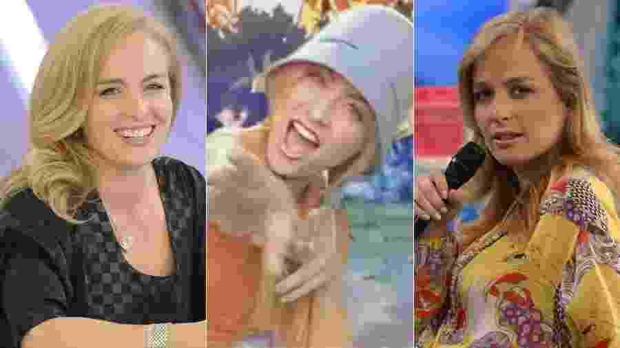 """Angélica como jurada, como cantora da abertura de """"Digimon"""" e como apresentadora do """"Vídeo Game"""" - Montagem/UOL/Reprodução/Divulgação/TV Globo"""