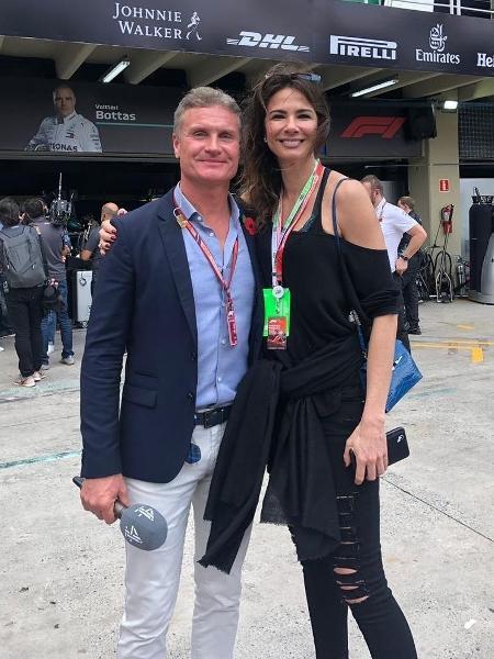 Lu Gimenez posa ao lado de David Coulthard - Reprodução/Instagram