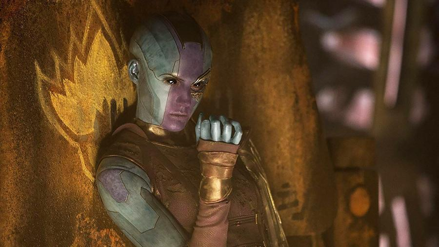 Nebulosa (Karen Gillan) em cena de Guardiões da Galáxia Vol. 2 - Divulgação
