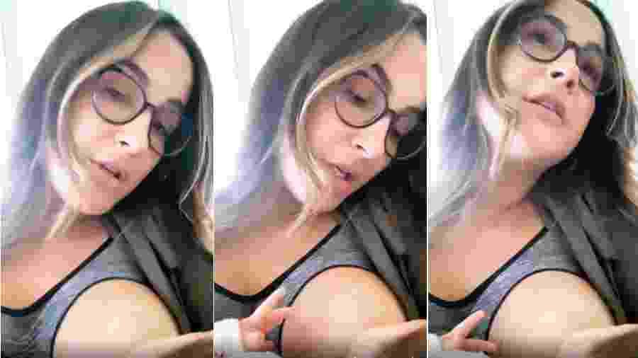 Claudia Leitte amamenta a filha, Bela - Reprodução/Instagram