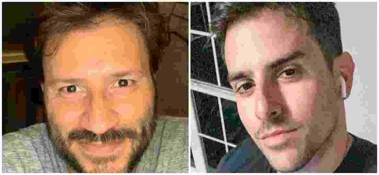 O publicitário Rodrigo Branco (à esquerda) está sendo confundido com o diretor Rodrigo Branco (à direita) - Instagram/Reprodução