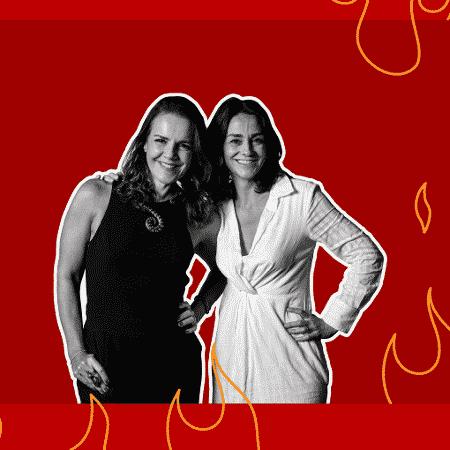 Ana Canosa e Marina Bessa apresentam o podcast Sexoterapia, que chega à terceira temporada - Arte/UOL