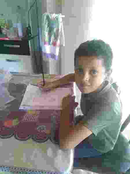 Carlos Eduardo Lima da Silva, estudante de 7 anos, moradora da Zona Rural de Ninheira (MG) - Arquivo Pessoal - Arquivo Pessoal