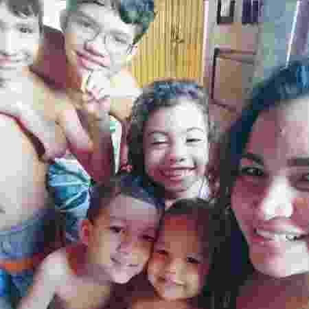 Samara Melão e os filhos - Arquivo pessoal