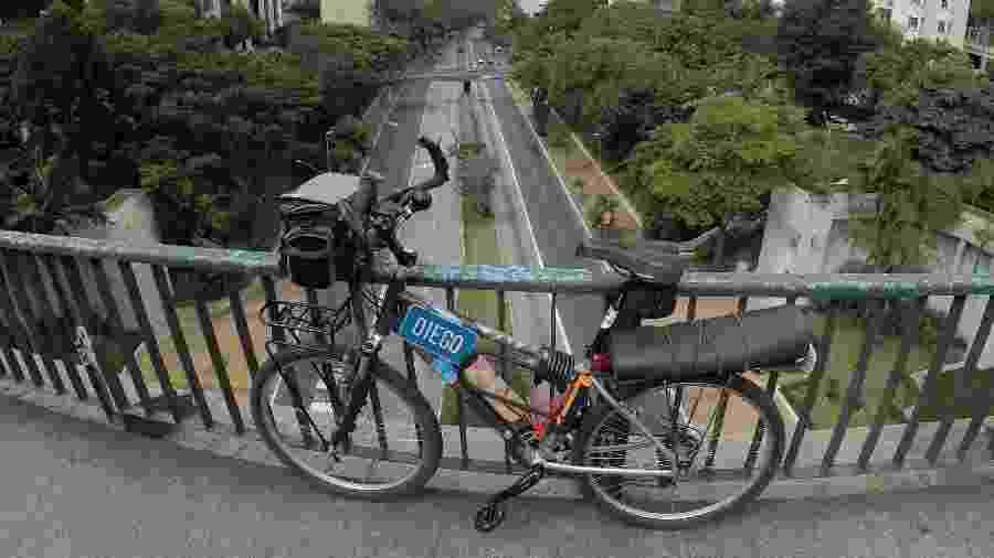 Bicicleta aro 26 usada por mim durante dez anos como meio de transporte em São Paulo - Diego Salgado/Acervo pessoal