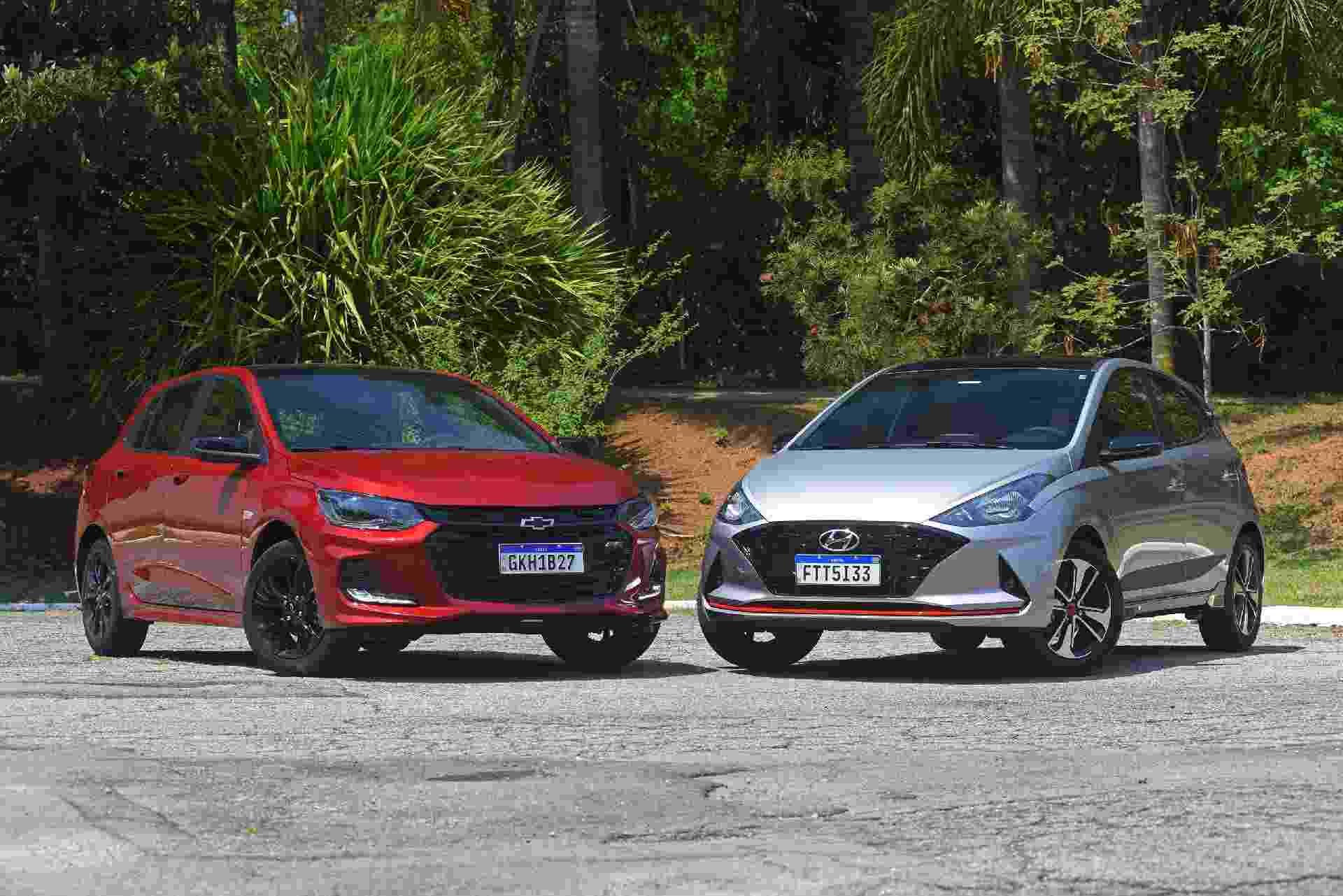 Chevrolet Onix RS x Hyundai HB20 Sport - Murilo Góes/UOL