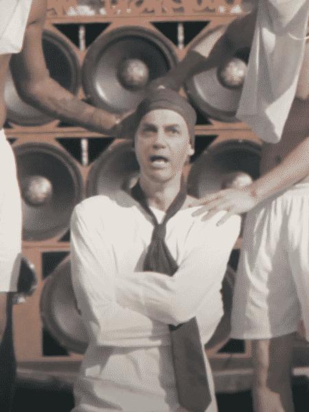"""Bolsonaro em versão deep fake do clipe de """"Leviatã"""", do artista Lafetah  - Reprodução / YouTube"""