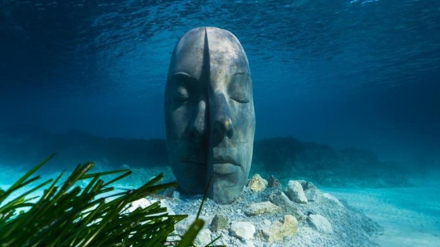 Escultura do Museu Subaquático de Cannes - Divulgação