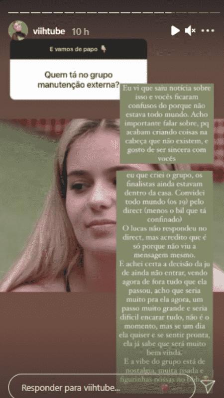 Story de Viih Tube - Reprodução/Instagram - Reprodução/Instagram