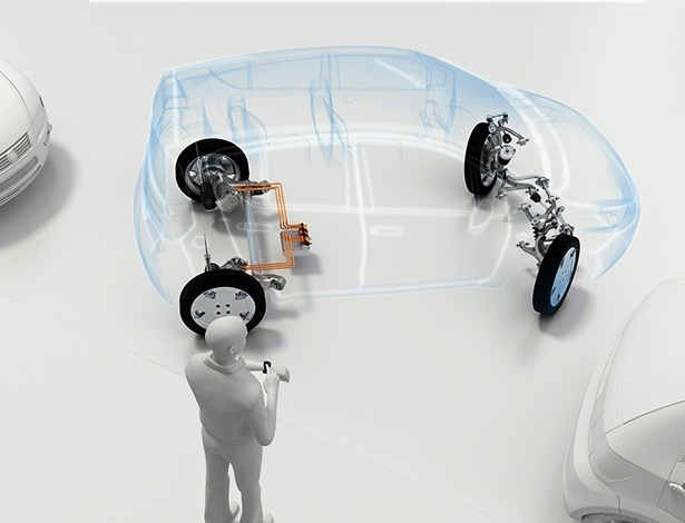 Fornecedora de transmissões, ZF criou o VUA, conceito de subcompacto autônomo que otimiza até o espaço nas vagas de estacionamento - Divulgação