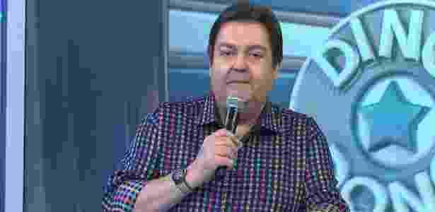 """Fausto Silva se irrita após erro de Felipe Dylon em quadro do """"Domingão"""" - Reprodução/TV Globo"""
