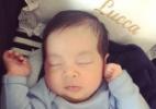 Ex-BBB Aline Gotschalg mostra pela primeira vez o rosto do filho Lucca - Reprodução/Instagram/@alinegoficial