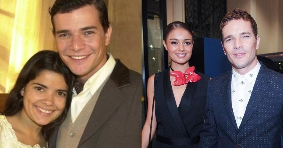 Daniel de Oliveira com Vanessa Giácomo e a atual, Sophie Charlotte