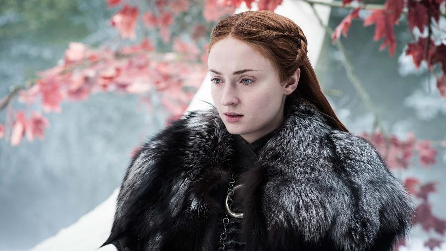 "Sansa Stark no quarto episódio da sétima temporada de ""Game of Thrones"", ""The Spoils of War"" - HELEN SLOAN/HBO"