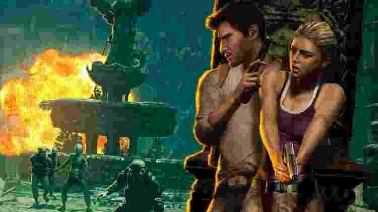 A relação entre Drake e Elena evoluiu ao longo da série, mas desde o primeiro jogo, a mocinha era capaz de se virar sozinha - coisa bem rara no mundo dos games de 10 anos atrás. - Divulgação