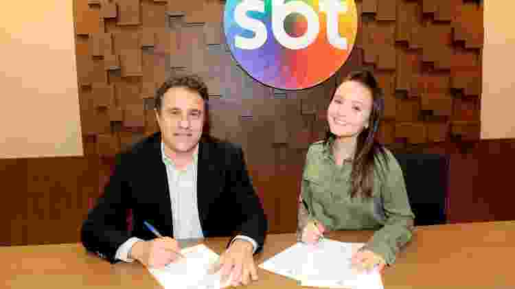 Larissa Manoela e o diretor artístico Fernando Pelégio - Lourival Ribeiro / SBT - Lourival Ribeiro / SBT