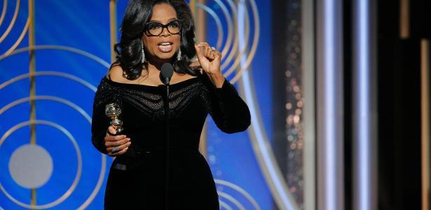 Oprah Winfrey fez um discurso emocionante no Globo de Ouro 2018