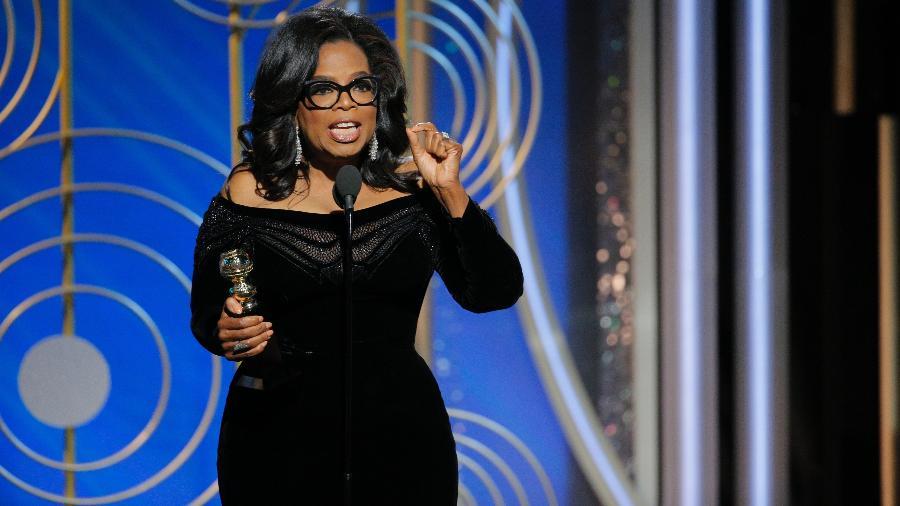 Oprah Winfrey fez um discurso emocionante no Globo de Ouro 2018 - Getty Images