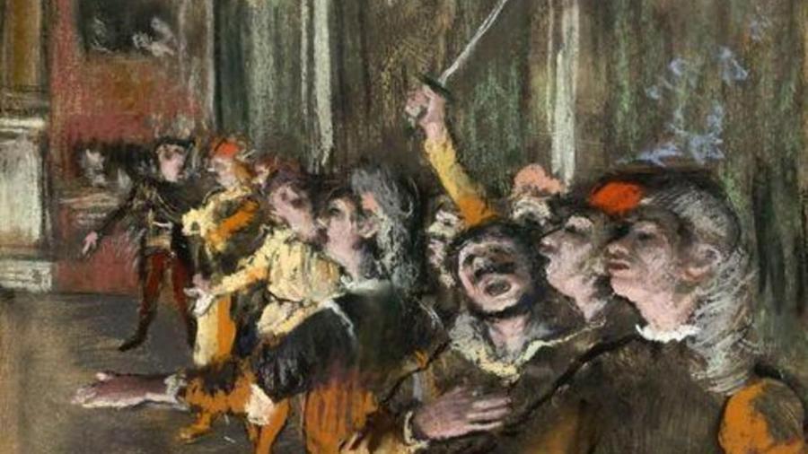 """Pedaço do quatro """"Led Choristes"""", de Edgar Degas - Reprodução"""
