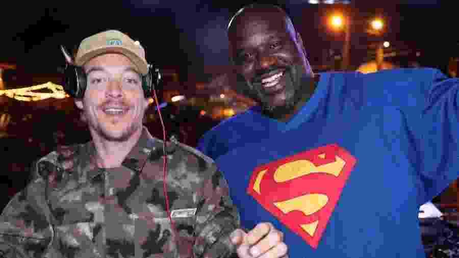 """Shaquille O"""" Neal ataca de DJ ao lado de Diplo - Reprodução/Facebook/Shaquille O"""" Neal"""