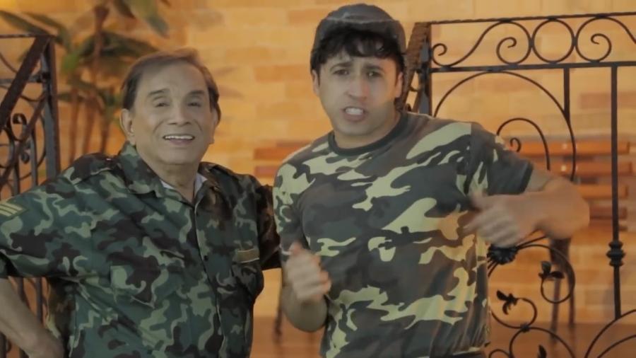 Dedé Santana e Marcelo Beny em esquete para o Canal do Bananinha - Reprodução/YouTube