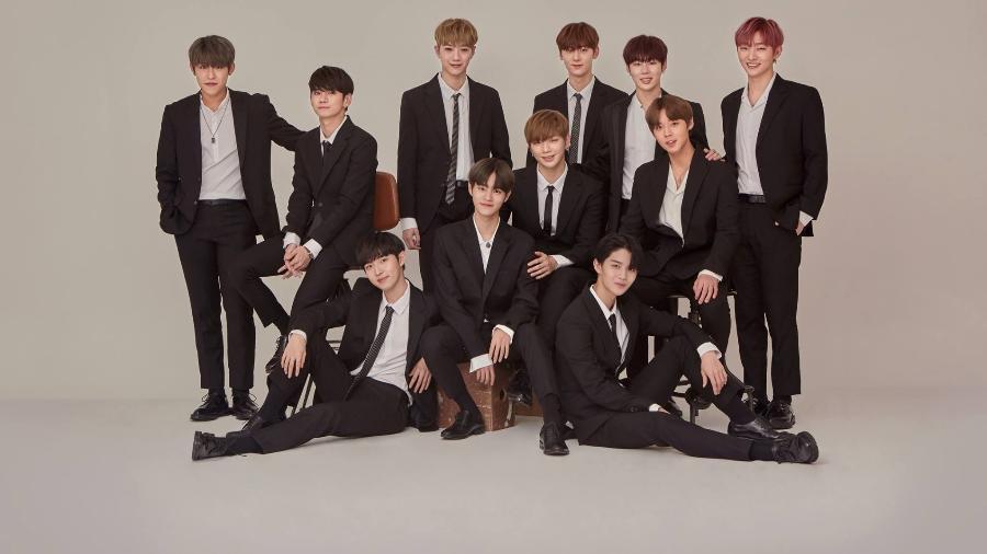 Os integrantes do grupo Wanna One - Divulgação