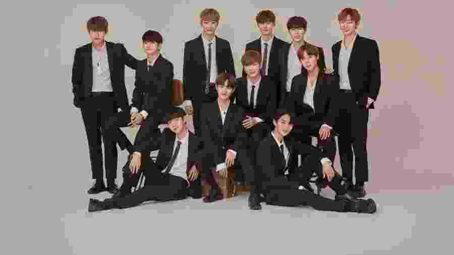 Os integrantes do grupo Wanna One - Divulgação