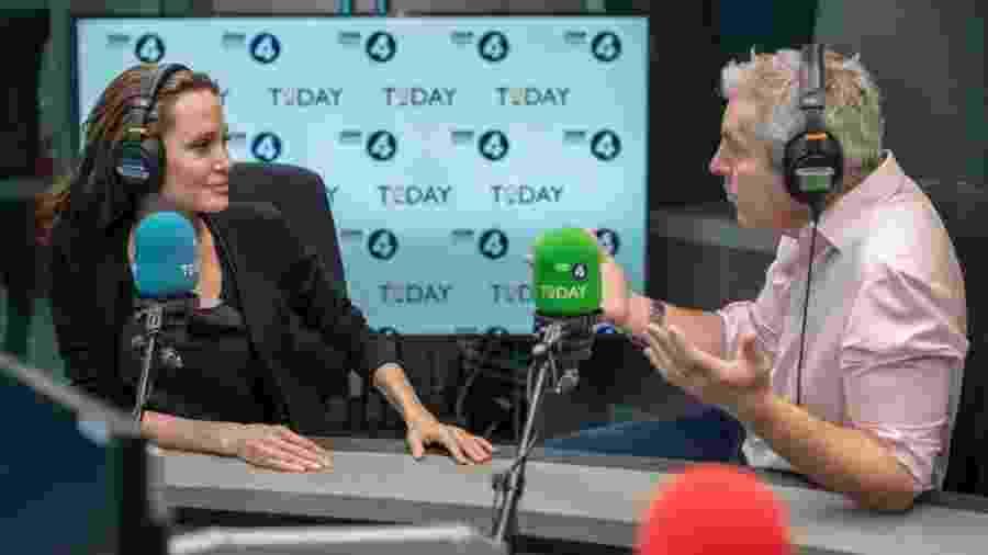 Angelina Jolie concede entrevista a Justin Webb, apresentador do programa Today da BBC - Press Association