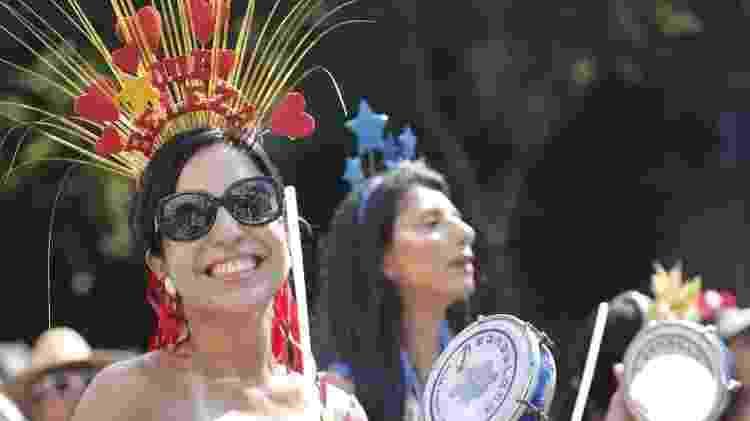 Monobloco tem como destaque as mulheres na bateria - Marcelo de Jesus/UOL