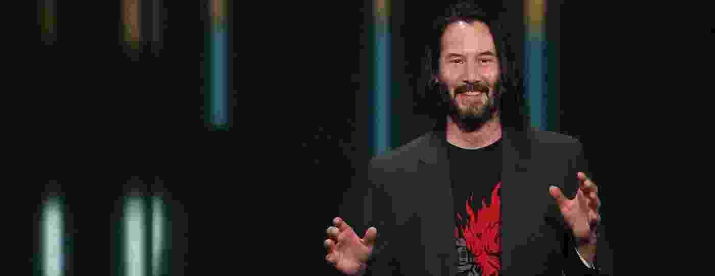 Keanu Reeves roubou os holofotes em apresentação do jogo
