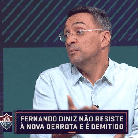 Maurício Noriega comenta passagem de Fernando Diniz em programa - Reprodução/SporTV