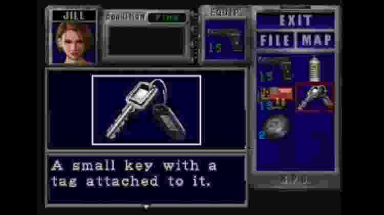 """""""Resident Evil"""", apesar de não ser RPG, é uma das inspirações para os itens e menus do grupo - Reprodução"""