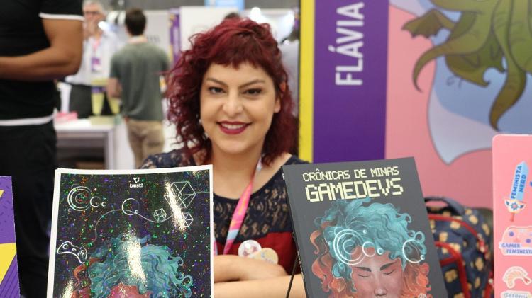 A autora Flávia Gasi lançou o livro durante a CCXP 2019 - Giovanna Breve/UOL