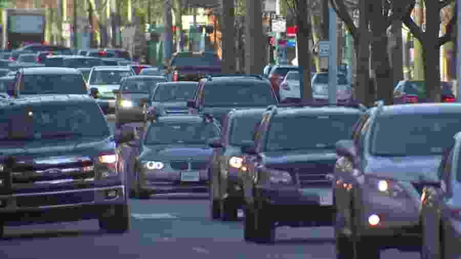 Trânsito nos EUA - Reprodução