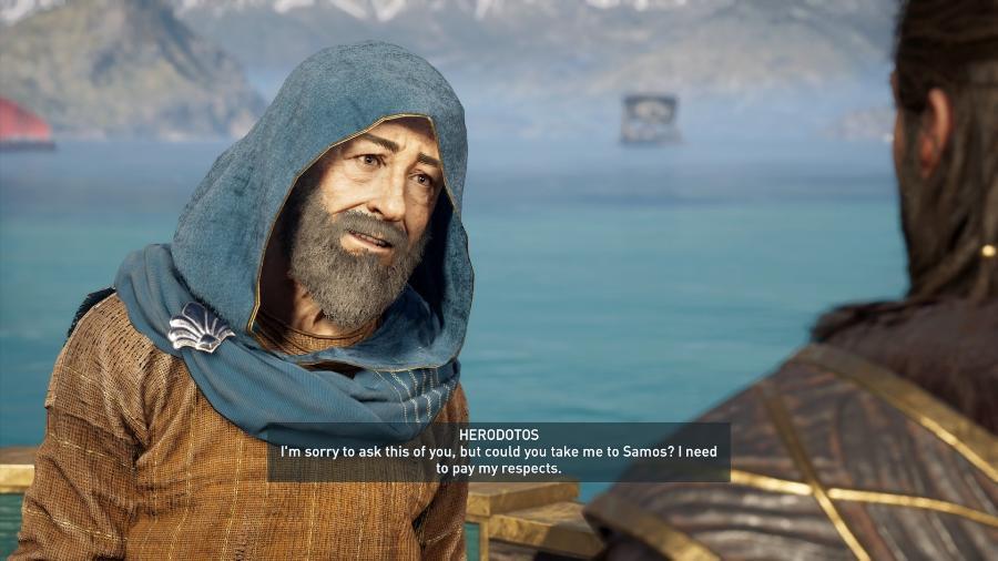 """Heródoto em Assassin""""s Creed - Reprodução"""