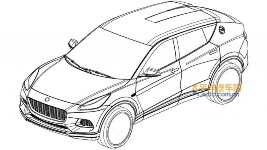 SUV elétrico da Lotus - Reprodução