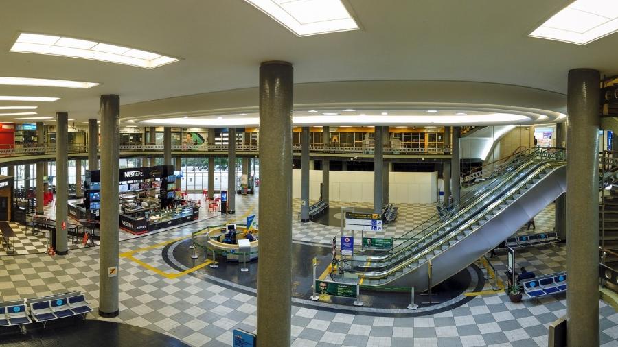 Aeroporto de Congonhas, em São Paulo, em junho: vazio pela pandemia - Getty Images