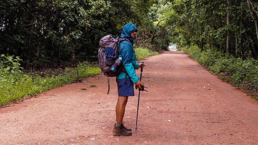Richard em sua peregrinação pelo Caminho de Cora Coralina, em Goiás - Richard Oliveira