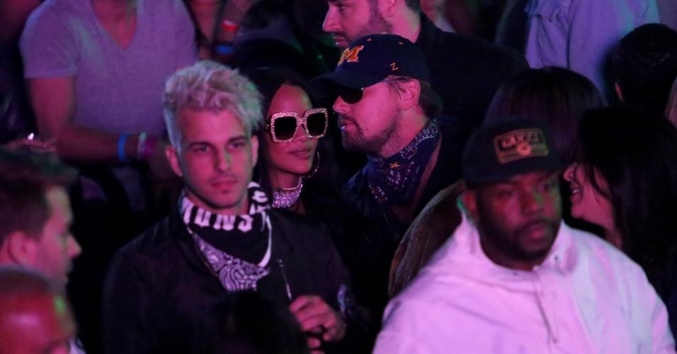 Rihanna e Leonardo DiCpario são flagrados em festa pós-Coachella