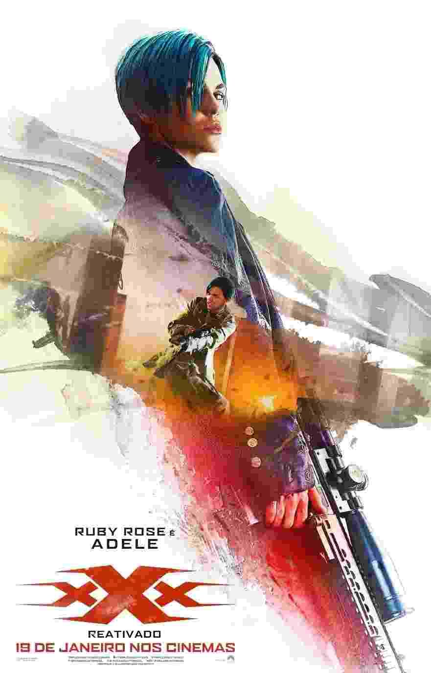 """Cartaz do filme """"XxX Reativado"""", com Ruby Rose interpretando o personagem Adele. O filme tem previsão de estreia para 18 de janeiro - Divulgação"""