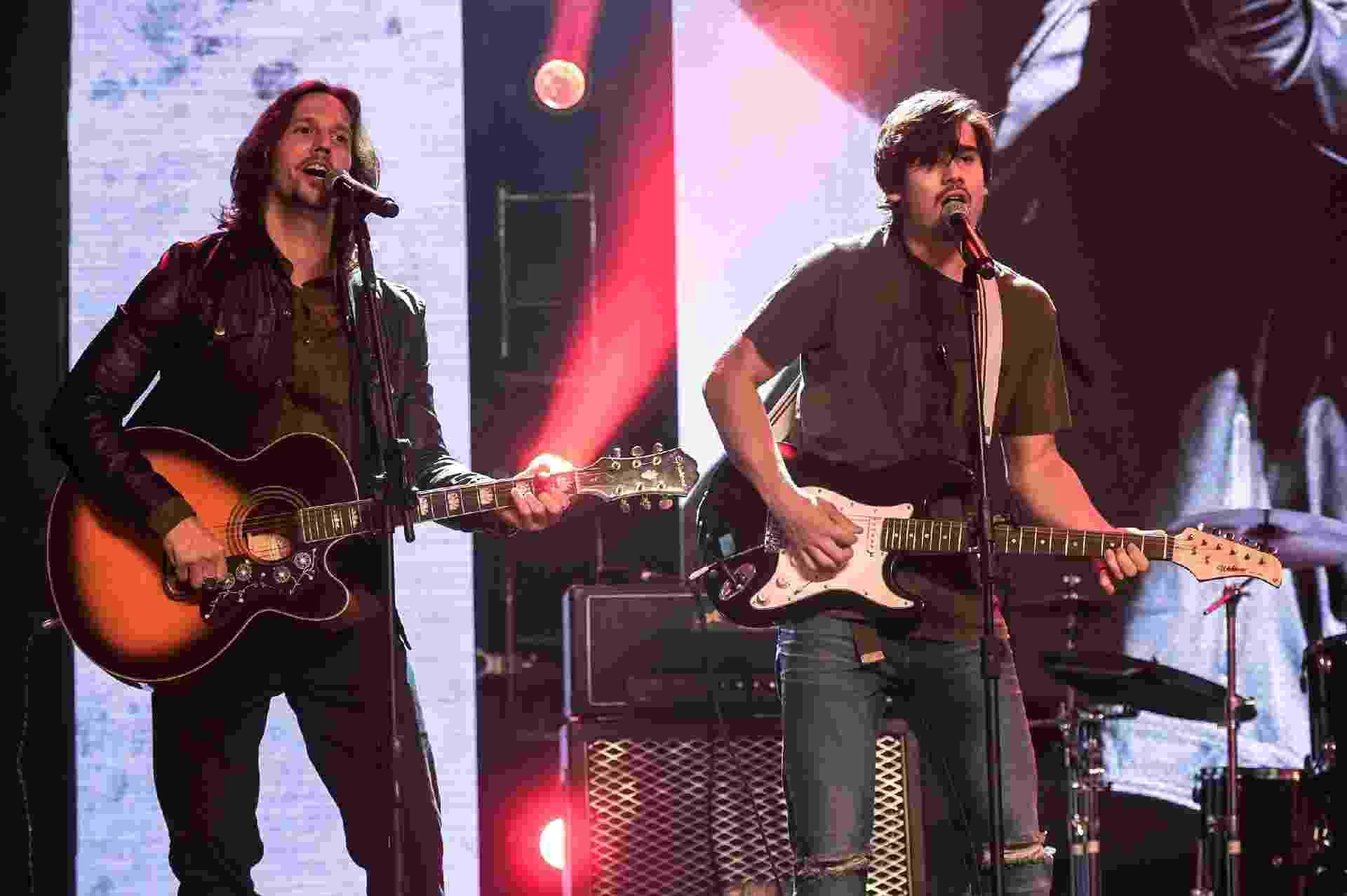 """Em """"Rock Story"""", Gui Santiago faz show em comemoração aos 20 anos de seu álbum mais famoso e canta com seu filho, Zac - Estevam Avellar/TV Globo"""