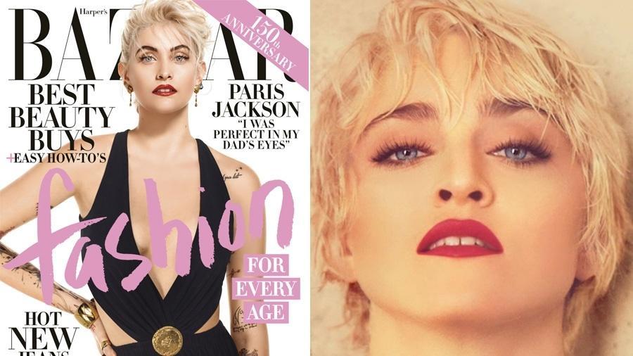 Paris Jackson à esquerda ao lado de (mamãe?) Madonna nos anos 1980  - Reprodução
